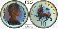 1984 GREAT BRITAIN 10 PENCE PCGS PR68CAM MONSTER TONED POP 3 NONE GRADED HIGHER