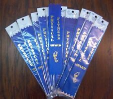 """PHYSICAL FITNESS AWARD"" 1½"" x 8"" Foil-Stamped Ribbons -- LOT of 100"