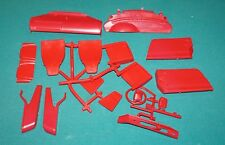 Porsche 911 993 Carrera Pocher 1/8 Red Interior Pieces Etc.