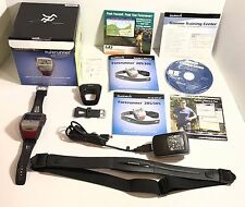 GARMIN FORERUNNER 305 GPS WATCH w/ HEART MONITOR COMPLETE PACKAGE