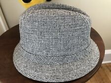 Vintage Gray Tweed Mens Hat Size Small