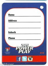 2015 NRL Power Play BAG TAG (BT8) Knights