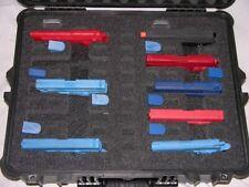 Custom 10 pistol handgun foam insert kit fits your Pelican 1600 case +nameplate