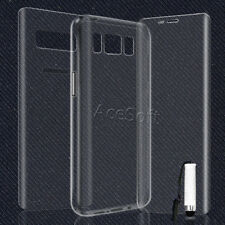 Front + Back Screen Protector Ultra TPU Case Cover for Cricket Samsung