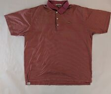 Mens Peter Millar 100% Cotton Pinehurst 1859 Golf Polo Shirt Striped S/S XXL 2XL