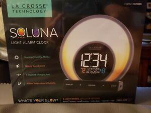 La Crosse Soluna Light Alarm Clock 20 Color Options USB Charging Port New in box