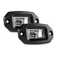 2x 20W Flush Mount LED Pods Flood CREE Work Light Offroad Backup Lamp for all