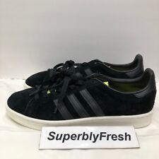 Adidas Originals Campus Men Sneakers Black/Neon Yellow BB0082 Size 11