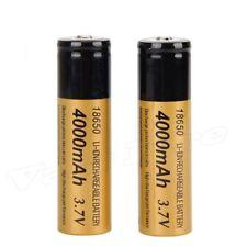 2PC 3.7V 4000mAh 18650 3.7 v Recargable Li-ion Battery Para Linterna Antorcha