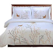 Swallow 3 Piece King California King Cotton Duvet Sheet Cover Set Bedding Spread