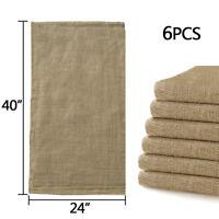 "6pcs Linen Burlap Jute Bag Heavy Duty Potato Game Sack Gunny Race Bags 24""x40"""