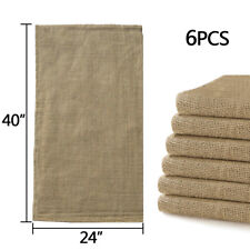 "6pcs Linen Burlap Jute Bag Heavy Duty Potato Game Sack Gunny Race Bags 24""x40"""
