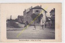 CPA 77610 MARLES EN BRIE Hôtel de la Gare animée  Edit CATALA ca1939