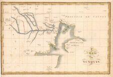 """"""" 2me Carte du tunquin' . Tonkin Hainan Red River Vietnam China. mapa CANU c1785"""