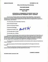 Exective Order Appointing JFK Assassination Commission, Signed By Gerald Ford