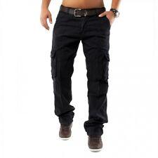 Pantalones cargo de los pantalones vaqueros flojos pantalones Fit Chinos Cargo P