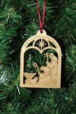 Wooden Laser Engraved Religious Christmas Ornament