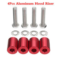 4Pcs Red 1'' 8mm Billet Hood Vent Spacer Riser Kit For Car All Turbo Engine Swap