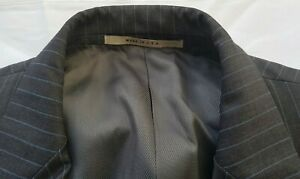 Size 44 Long Burberry London Suit - Grey with Pin Stripes