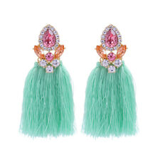 ed00378c 2018 New Summer Jewelry Green Rope Tassel Trendy Drop Earrings For Girl