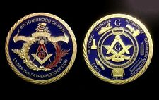 MEDAILLE FRANC-MACON - Plaqué Or 24 K - Franc-Maçonnerie Freemason Masonic Medal