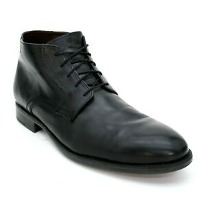 Johnston & Murphy Men's 12 M Black Calfskin Waterproof Russell Chukka Ankle Boot