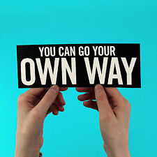 "Fleetwood Mac lyric Sticker! ""Go Your Own Way"", Stevie Nicks, Lindsey Buckingham"