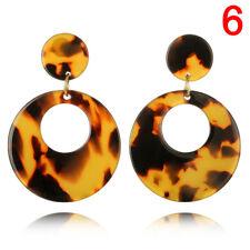 Round Acrylic Dangle Drop Earrings Geometric Ear Studs Women S Jewelry