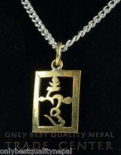 """Amuleto Colgante"""" HUNG """"Latón Mantra CREO NEPAL Budismo DHARMA 06"""