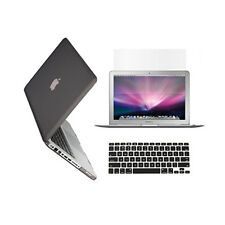 "3 in 1 Rubberized GREY Case for Macbook PRO 13"" + Keyboard Cover +   LCD Screen"