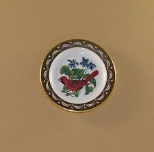 State Birds and Flowers Miniature Mini Plate Illinois Cardinal Violet