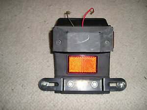 Motorcycle 12V lLcense Plate Mount Holder With Light--Price Lowered