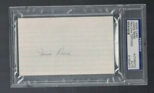 Jimmie Reese Yankees Angels Signed Index Card PSA/DNA Certified