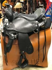 "Tucker Horizon North Star Trail Saddle 18.5"" Med Tree Black, Chrome Tooled #263"
