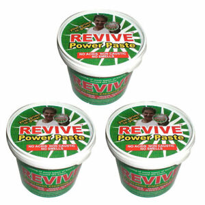 3x Revive Power Paste : Cleaning Ovens Cookers Hobs BBQ