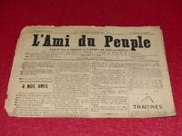 [PRESSE XIXe] MAXIME LISBONNE / L'AMI DU PEUPLE # 6   Dimanche 14 DEC 1884 Rare!