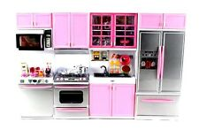 "Deluxe Modern Kitchen' Battery Operated Toy Kitchen Playset 11-12"" Tall Dolls"
