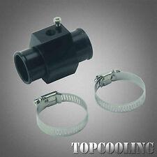 32MM Black Water Temp Joint Pipe Temperature Gauge Sensor Radiator Hose Adapter