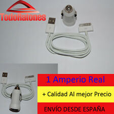 Cargador mechero de coche USB + cable datos ipod classic iphone 3 4 ipad Apple