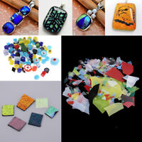 Colaxi Jewelers Scrap Dichroic Glass 28g COE 90 Fusible Glass DIY Jewelry Pendant Tool