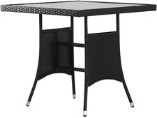 NEU: vidaXL Gartentisch 80x80x74 cm Poly Rattan Balkontisch Terrassentisch Tisch