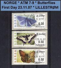 Norwegen ATM 7-9 / Butterfly / First Day / machine # 0RU.. LILLESTRØM / Frama