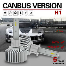 H1 LED Headlight Bulb Kit 200W 20000LM 6000K White with Canbus Fit For Chevrolet