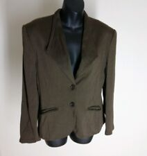 Lemon Designer Womens Jacket Brown Blazer Size 12 Made in Italy NWOT