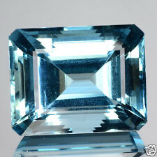 49.54 Cts Natural Unheated Santa maria Blue Aquamarine Octagon Cut Brazil (Video