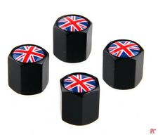 4 unidades mini válvula tapas Union Jack united cooper paceman Clubman tapas Black