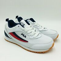 FILA Women's Realm Runner Athletic Shoes White Navy Red, Pick A size