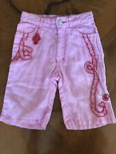 Oilily Girls Pink Linen Pants Size 86/24 Months