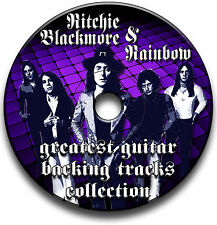RITCHIE BLACKMORE & RAINBOW STYLE MP3 ROCK GUITAR BACKING JAM TRACKS CD LIBRARY