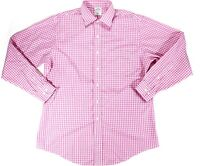 Brooks Brothers 346 mens 16 1/2 Long Sleeve Button Up Cotton Pocket Plaid Pink